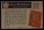 1955 Bowman #280   Clyde McCullough Back Thumbnail
