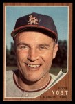 1962 Topps #176 POR  Eddie Yost  Front Thumbnail
