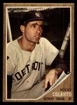 1962 Topps #20   Rocky Colavito Front Thumbnail