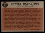 1962 Topps #351  Braves' Backstops  -  Joe Torre / Del Crandall Back Thumbnail
