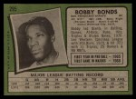 1971 Topps #295  Bobby Bonds  Back Thumbnail