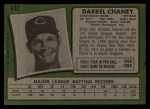 1971 Topps #632   Darrel Chaney Back Thumbnail