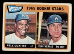 1965 Topps #453  Dodgers Rookies  -  Willie Crawford / John Werhas Front Thumbnail