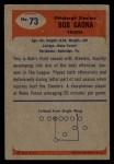 1955 Bowman #73   Bob Gaona Back Thumbnail