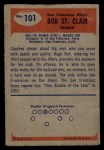 1955 Bowman #101  Bob St. Clair  Back Thumbnail