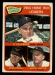 1965 Topps #3  1964 AL Home Run Leaders  -  Harmon Killebrew / Mickey Mantle / Boog Powell Front Thumbnail