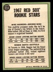 1967 Topps #314  Red Sox Rookies  -  Reggie Smith / Mike Andrews Back Thumbnail