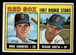 1967 Topps #314  Red Sox Rookies  -  Reggie Smith / Mike Andrews Front Thumbnail