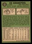 1967 Topps #452   Ed Kranepool Back Thumbnail