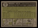 1961 Topps #60   Woodie Held Back Thumbnail