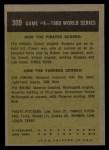 1961 Topps #309  1960 World Series - Game #4 - Cimoli Save in Critical Play  -  Gino Cimoli Back Thumbnail