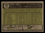 1961 Topps #197  Dick Hall  Back Thumbnail