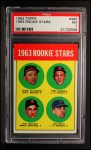1963 Topps #496   Rookie Stars    -  Jack Smith / Carl Bouldin / Steve Dalkowski / Fred Newman Front Thumbnail