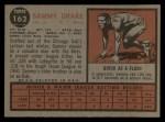 1962 Topps #162 GRN Sammy Drake  Back Thumbnail