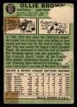 1967 Topps #83  Ollie Brown  Back Thumbnail