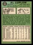 1967 Topps #433   Al Luplow Back Thumbnail
