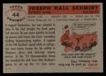 1956 Topps #44  Joe Schmidt  Back Thumbnail