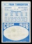 1968 Topps #161   Fran Tarkenton Back Thumbnail