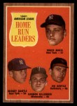 1962 Topps #53  AL HR Leaders  -  Roger Maris / Mickey Mantle / Jim Gentile / Harmon Killebrew Front Thumbnail