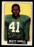 1964 Topps #125  Matt Snell  Front Thumbnail