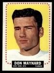 1964 Topps #121   Don Maynard Front Thumbnail