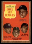 1962 Topps #53  1961 AL Home Run Leaders  -  Roger Maris / Mickey Mantle / Jim Gentile / Harmon Killebrew Front Thumbnail