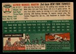 1954 Topps #13  Billy Martin  Back Thumbnail