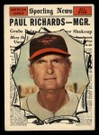 1961 Topps #566   -  Paul Richards All-Star Front Thumbnail