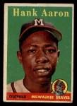 1958 Topps #30 *YN* Hank Aaron  Front Thumbnail