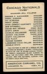 1922 E120 American Caramel #151  Victor Aldridge  Back Thumbnail