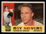 1960 Topps #25   Roy Sievers Front Thumbnail