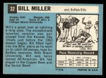 1964 Topps #32   Bill Miller Back Thumbnail