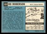 1964 Topps #151   Bo Roberson Back Thumbnail
