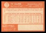 1964 Topps #171   Ty Cline Back Thumbnail