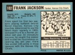 1964 Topps #102  Frank Jackson  Back Thumbnail