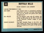 1964 Topps #43   Buffalo Bills Back Thumbnail