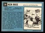 1964 Topps #34  Ken Rice  Back Thumbnail