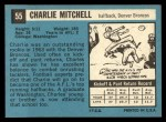 1964 Topps #55  Charlie Mitchell  Back Thumbnail