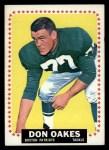 1964 Topps #15  Don Oakes  Front Thumbnail