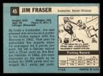 1964 Topps #45   Jim Fraser Back Thumbnail