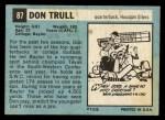 1964 Topps #87  Don Trull  Back Thumbnail