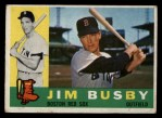 1960 Topps #232   Jim Busby Front Thumbnail