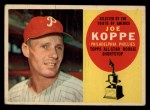 1960 Topps #319   Joe Koppe Front Thumbnail