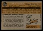 1960 Topps #116   Jim Rivera Back Thumbnail