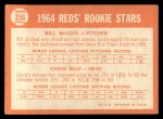 1964 Topps #356   Reds Rookie Stars  -  Bill McCool / Chico Ruiz Back Thumbnail