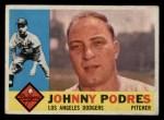 1960 Topps #425  Johnny Podres  Front Thumbnail
