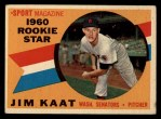 1960 Topps #136   -  Jim Kaat Rookies Front Thumbnail