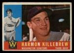 1960 Topps #210  Harmon Killebrew  Front Thumbnail
