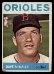 1964 Topps #161  Dave McNally  Front Thumbnail