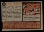 1962 Topps #95   Don Hoak Back Thumbnail